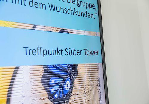 Vorträge und Wissensvermittlung beim Treffpunkt Sülter Tower der Firma werning.com