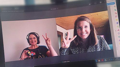 Online Meeting 20 Minuten Think Tank mit Sandra und Sarah