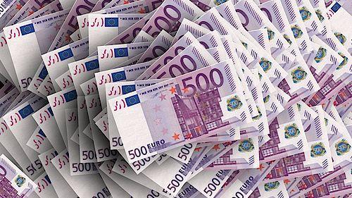 Euro Geldscheine Bußgeld