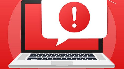 Warnung Virus Laptop