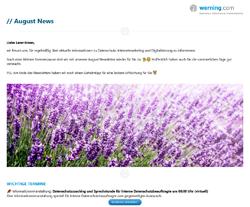 August Newsletter Werning